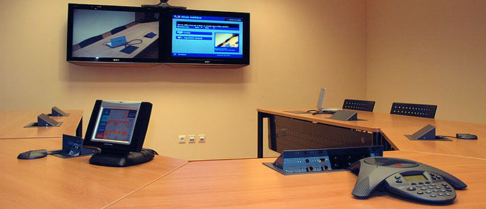 Intelligens iroda - audio és videokonferencia berendezések